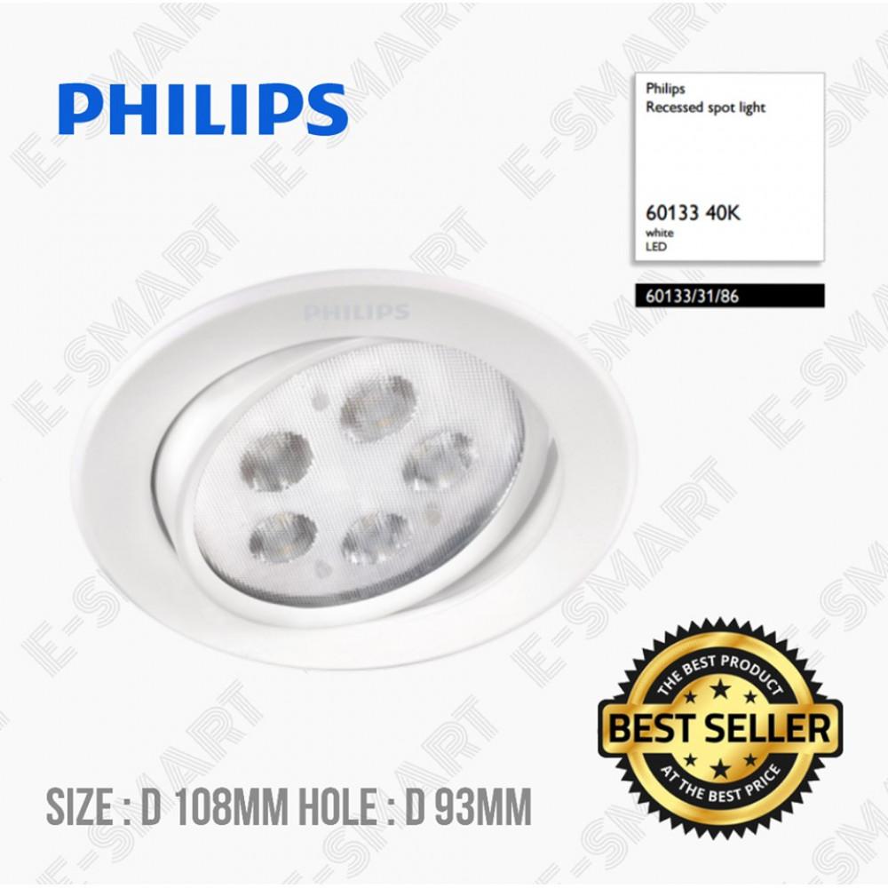 PHILIPS RECESSED SPOT LIGHT 60133/31/86 60133 4000K COOL WHITE LED