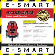 image of BOSSMAN BJ-5 5-LINES LASER LEVEL WITH RECHARGEABLE LI-ION BATTERY