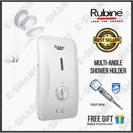image of Rubine RWH-FS360N-MAW Flusso Water Heater Multi-angle Shower Holder