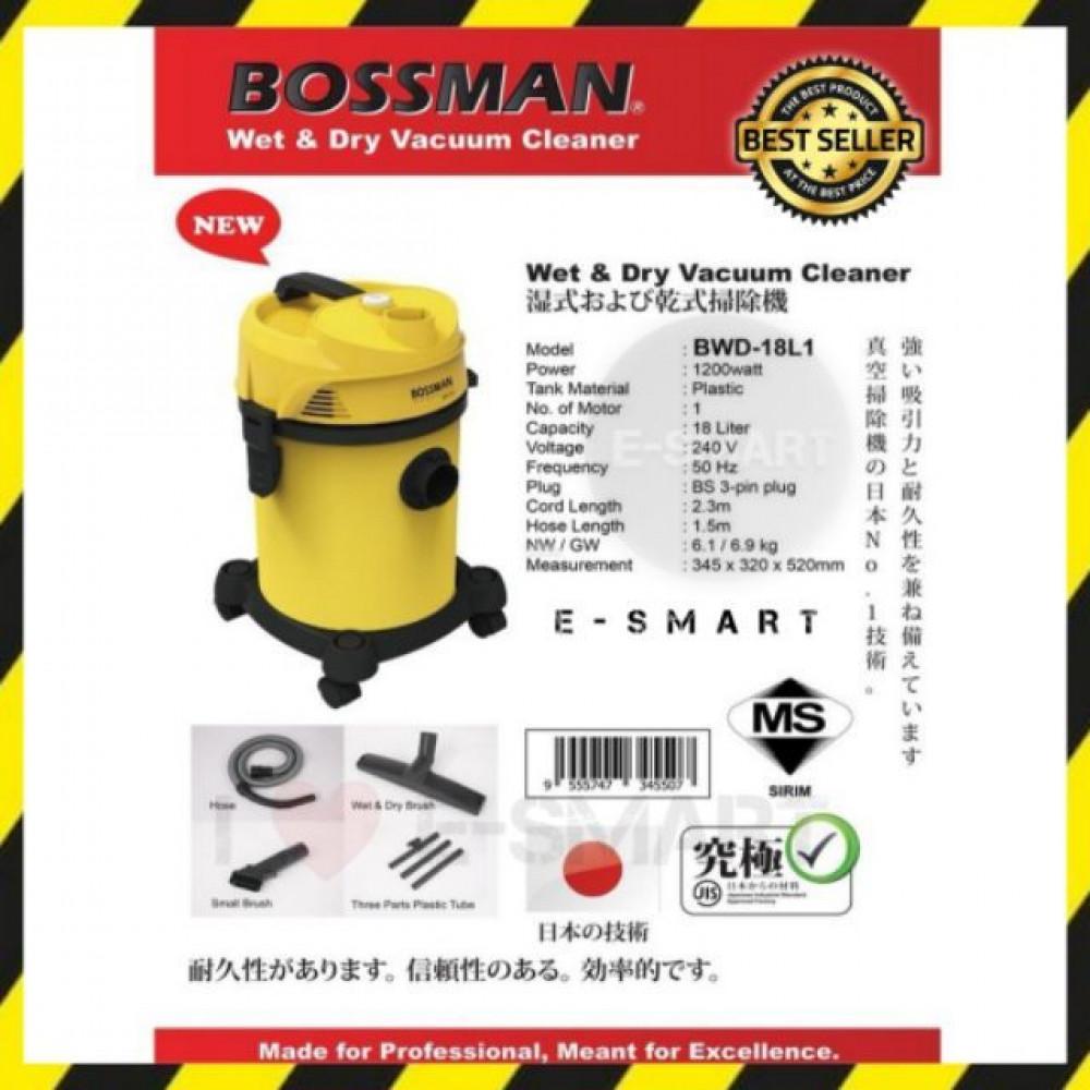 MECK/BOSSMAN 3 IN 1 (12L/18L) VACUUM CLEANER MVC-WD12SS/BWD-18L1
