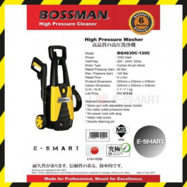 image of E-SMART BOSSMAN 1500W High Pressure Washer Water Jet Sprayer BQ4630C-120C