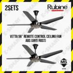"2SETS X RUBINE VETTA 56"" REMOTE CONTROL CEILING FAN ABS (ANTI RUST) KIPAS SILING"