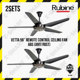 "image of 2SETS X RUBINE VETTA 56"" REMOTE CONTROL CEILING FAN ABS (ANTI RUST) KIPAS SILING"
