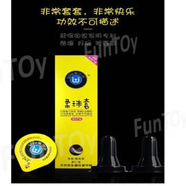 image of 3pcs Double Soft Ball Massage Condom