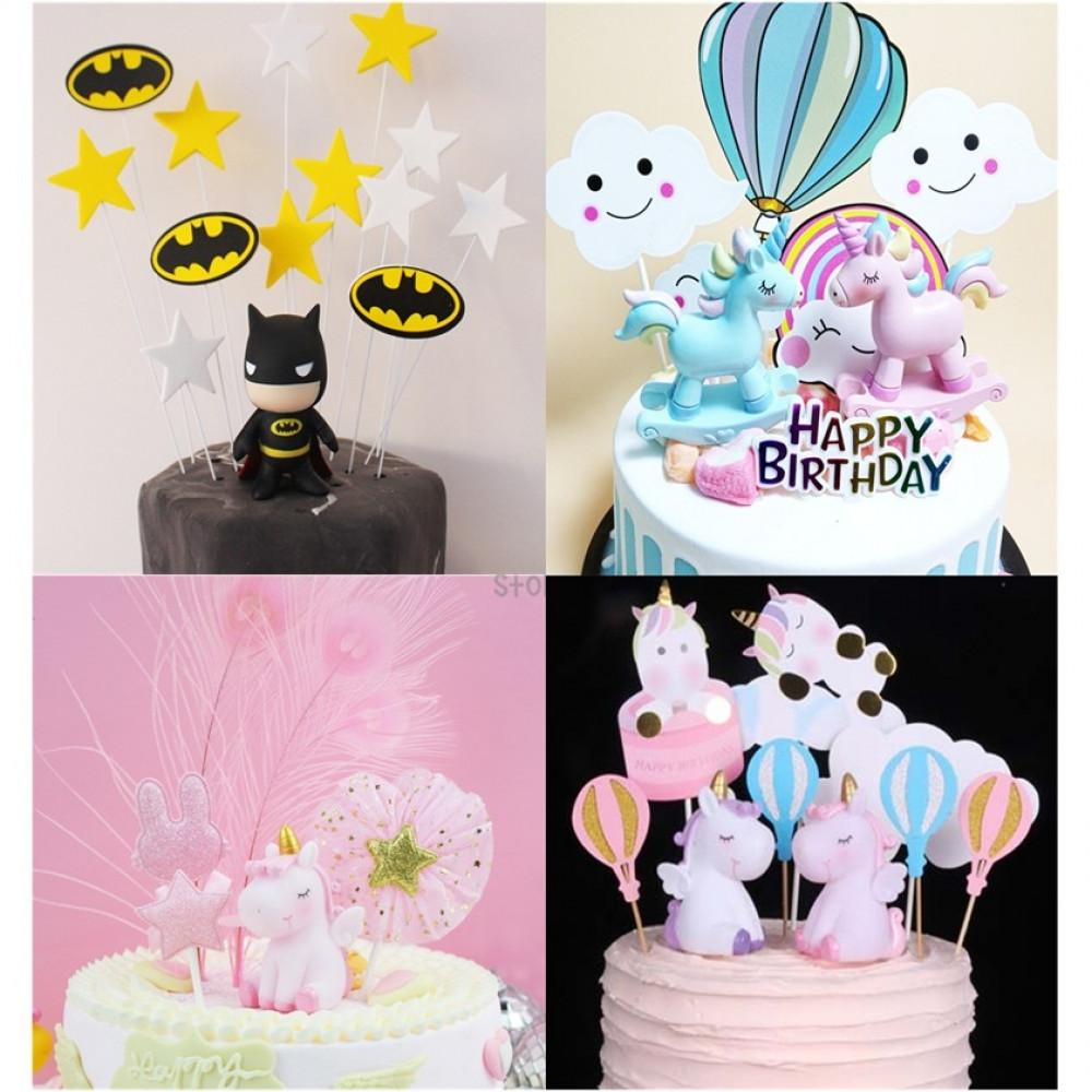 Ready Stock Diy Cute Disney Cartoon Birthday Cake Display