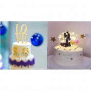 image of 【READY STOCK】DIY Wedding / Birthday / Anniversary Cake Topper / Cake's Stand