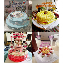 image of 【READY STOCK】DIY Disney Cartoon Happy Birthday Cake Topper / Cake's Stand