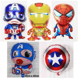 image of 【READY STOCK】Iron Man / Captain America / Spiderman Foil Balloon ( Avenger )