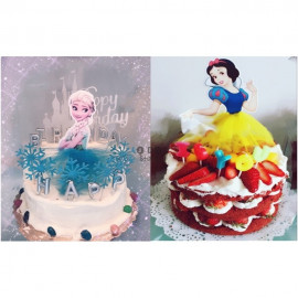 image of 【READY STOCK】Disney Princess Happy Birthday Cake Topper / Cake's Stand