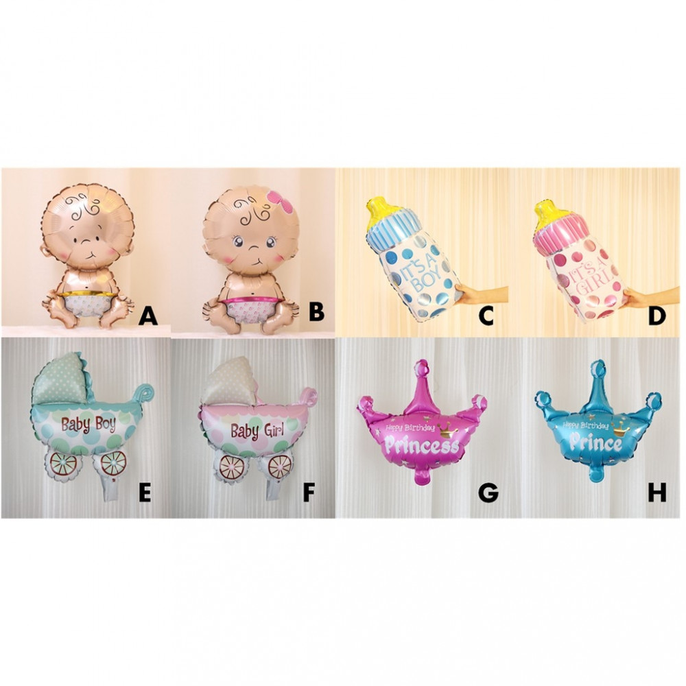 【READY STOCK】Mini Party Decoration Baby Shower/Birthday Foil Balloon
