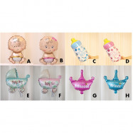 image of 【READY STOCK】Mini Party Decoration Baby Shower/Birthday Foil Balloon