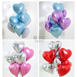 image of 【READY STOCK】18inch Love/Heart Shape Foil Balloon