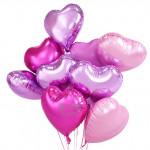 【READY STOCK】18inch Love/Heart Shape Foil Balloon