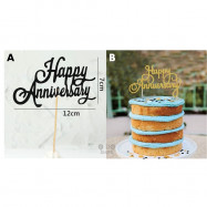 image of 【READY STOCK】DIY Happy Anniversary Cake Topper / Cake's Stand