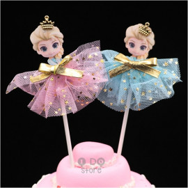 image of 【READY STOCK】Cute Elsa Birthday Cake Topper