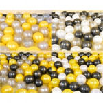 【READY STOCK】10 inch Metalic Pearl Latex Balloon ( Black/Silver/Gold/Red/White)