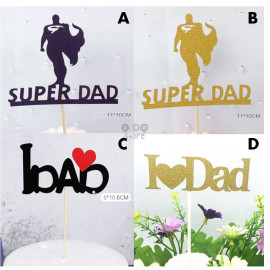 image of 【READY STOCK】DIY Daddy / Mummy Birthday Cake Topper / Cake's Stand