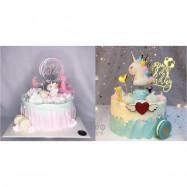 image of 【READY STOCK】Cute Unicorn Cartoon Birthday Cake Display / Decoration