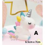 【READY STOCK】Cute Unicorn Cartoon Birthday Cake Display / Decoration