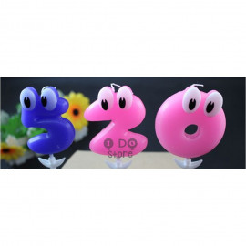 image of 【READY STOCK】Cute Big Eye Numbering Birthday Cake Candle