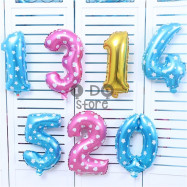 image of 【READY STOCK】16 inches Number Foil Balloon