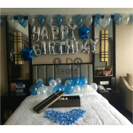 image of 【READY STOCK】Adult Birthday Party Balloon Set ( Blue )