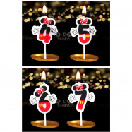 image of 【READY STOCK】Minnie Birthday Numbering Cake Candle