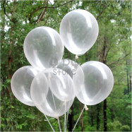 image of 【READY STOCK】10 inches Transparent Clear Latex Balloon ( 20pcs )