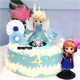 image of 【READY STOCK】DIY Cute Elsa / Anna / Frozen Birthday Cake Display / Deco