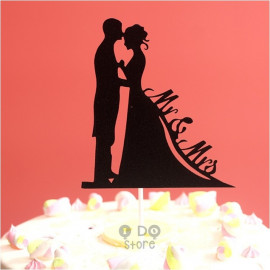image of 【READY STOCK】 Mr & Mrs DIY Wedding Cake Topper/Bouquet Topper/Cake Stand