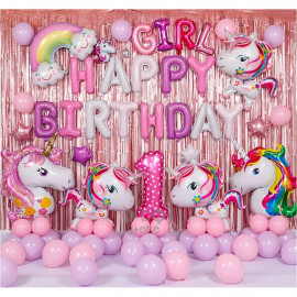 image of 【READY STOCK】Pony Theme Birthday Party Decoration Balloon Set