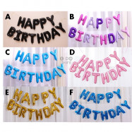image of 【READY STOCK】NEW DESIGN Hanging Happy Birthday Word Balloon Set