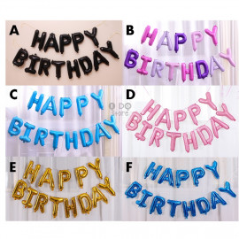 image of 【READY STOCK】NEW DESIGN Hanging Happy Birthday Word Balloon Set