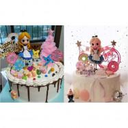 image of 【READY STOCK】DIY Alice in Wonderland Disney Princess Birthday Cake Display / Deco