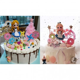 image of 【READY STOCK】DIY Alice in Wonderland Disney Princess Birthday Cake Display / Deco