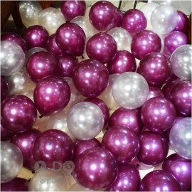 image of 【READY STOCK】12 inch 3.2g Metalic Pearl Latex Balloon(Grape Purple/Silver/Black)