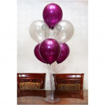 【READY STOCK】12 inch 3.2g Metalic Pearl Latex Balloon(Grape Purple/Silver/Black)