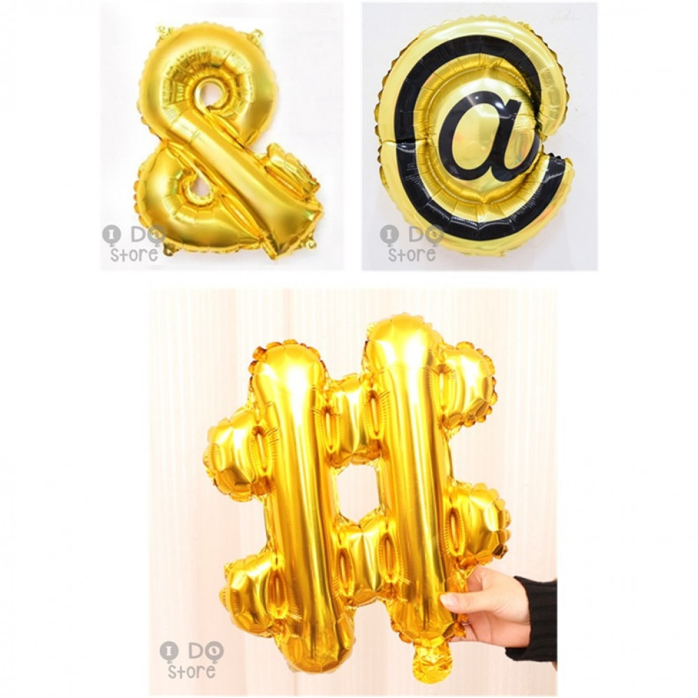 【READY STOCK】Special Symbol #/@/& foil balloon