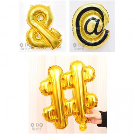 image of 【READY STOCK】Special Symbol #/@/& foil balloon