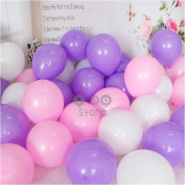 image of 【READY STOCK】10 inches Matte Colour Latex Balloon ( 20pcs )