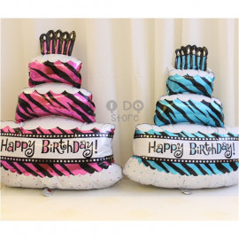 image of 【READY STOCK】Big 3 Layer Birthday Cake Balloon