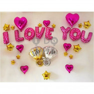 image of 【READY STOCK】I LOVE YOU Propose Balloon Set ( I DO RING )