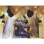image of 【READY STOCK】Adult Birthday Party Balloon Set ( Gold/Silver/Black )