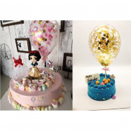 image of 【READY STOCK】Confetti Latex Balloon Cake Topper / Flower Topper / Cake Decoration