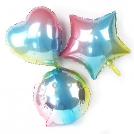 image of 【READY STOCK】18inch Colourful Love/Heart/Star/Round Shape Foil Balloon
