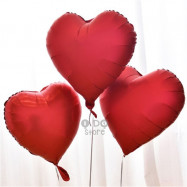 image of 【READY STOCK】18inch Ruby Red Love/Heart Shape Foil Balloon