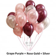 image of 【READY STOCK】12 inch 3.2g Metalic Pearl Latex Balloon (Grape / Champagne etc)