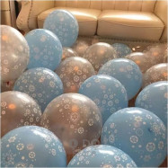 image of 【READY STOCK】12 inch Snowflake/Frozen/Christmas Latex Balloon