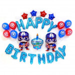 【READY STOCK】Captain America Birthday Party/Baby Boy Shower Balloon Set