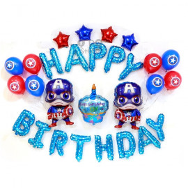 image of 【READY STOCK】Captain America Birthday Party/Baby Boy Shower Balloon Set